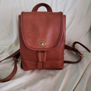 Vintage Coach tan mini backpack